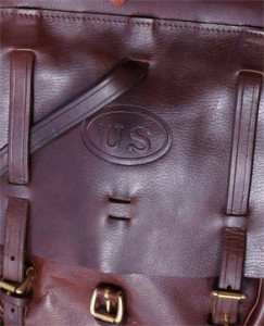 Cavalry bag US Stamp detail